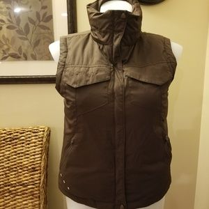 Columbia Down Puffer Vest - Large Brown